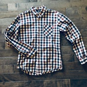 Frank & Oak button down red & blue gingham